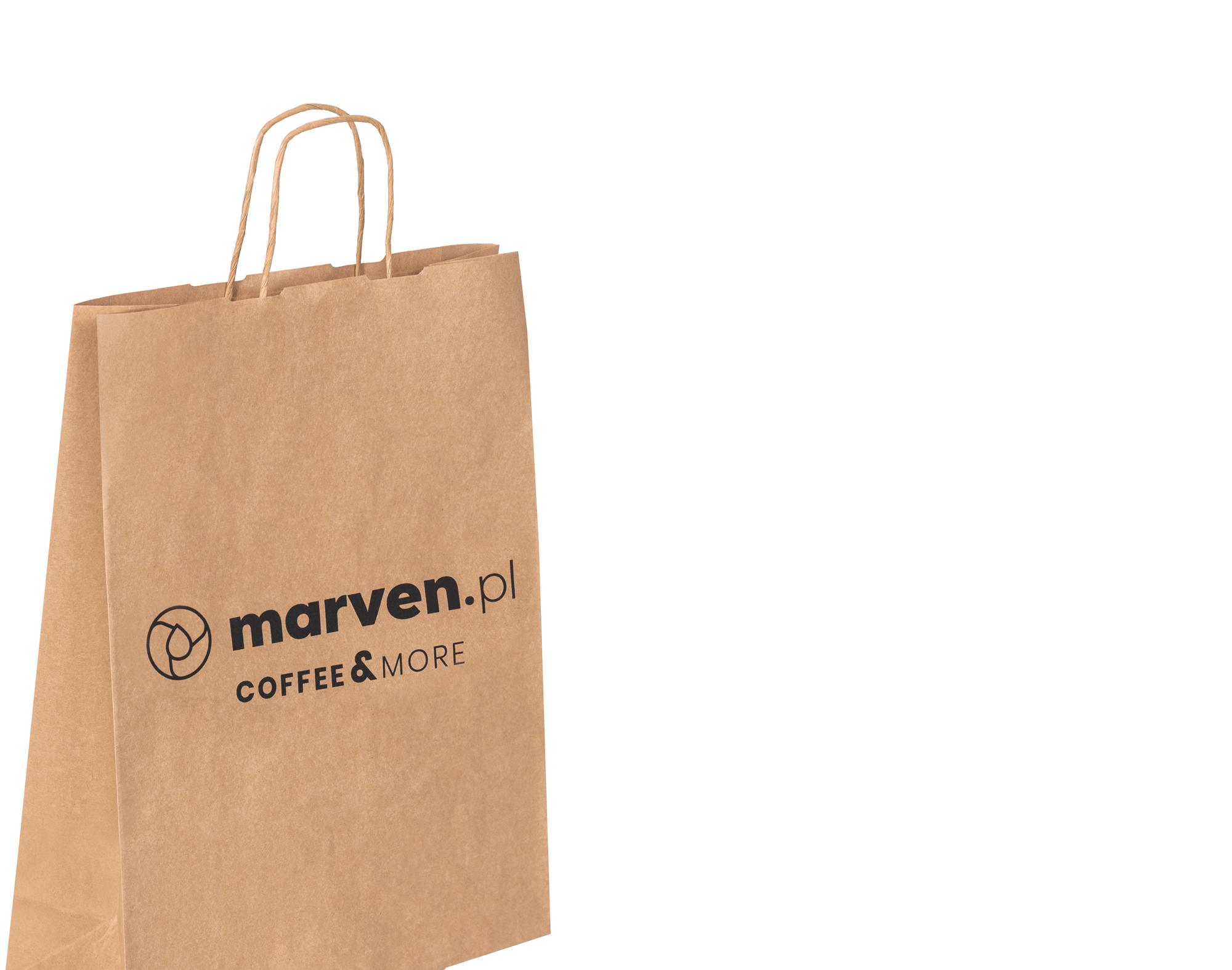 jednokolorowa torba papierowa